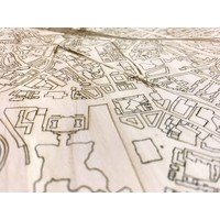 Citymap Hannover | houten wanddecoratie
