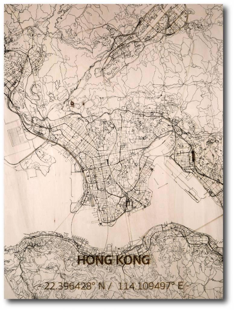 WOODEN WALL DECORATION HONG KONG CITYMAP-1