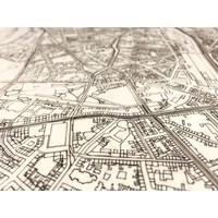 Stadtplan Düsseldorf | Wanddekoration Holz