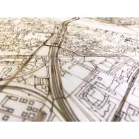 Stadtplan Dresden | Wanddekoration Holz