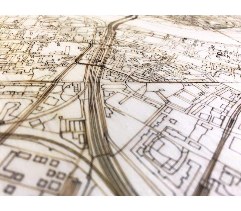 Citymap Dresden | houten wanddecoratie