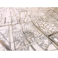 WOODEN WALL DECORATION BREMEN CITYMAP