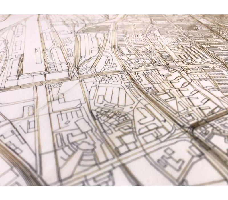 Citymap Bremen | houten wanddecoratie