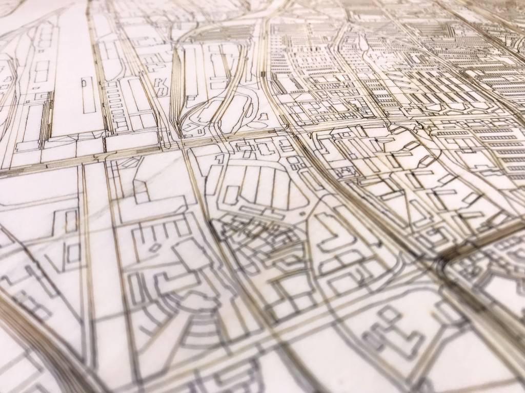 Citymap Bremen | houten wanddecoratie-4
