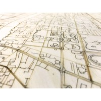 Stadtplan Bangkok | Wanddekoration Holz