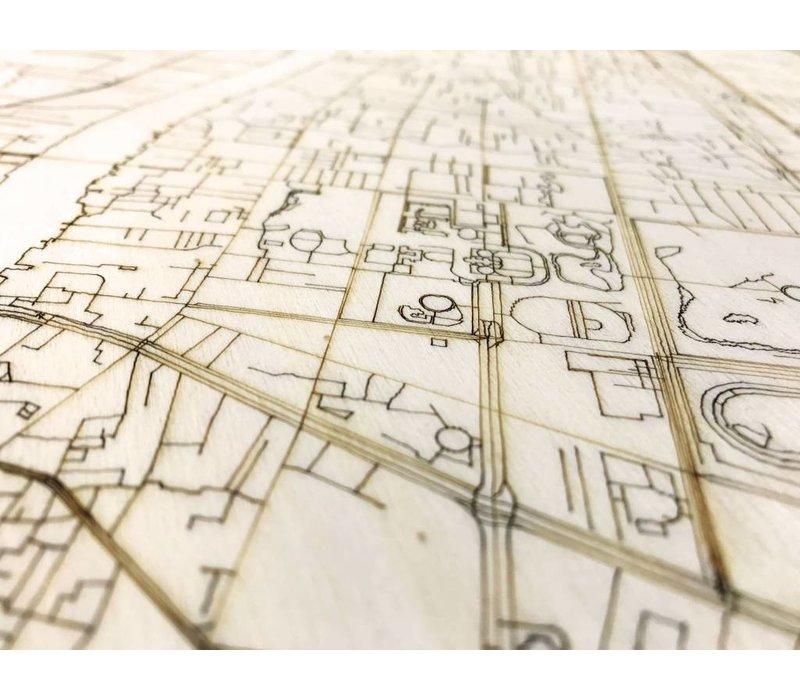 Citymap Bangkok | houten wanddecoratie