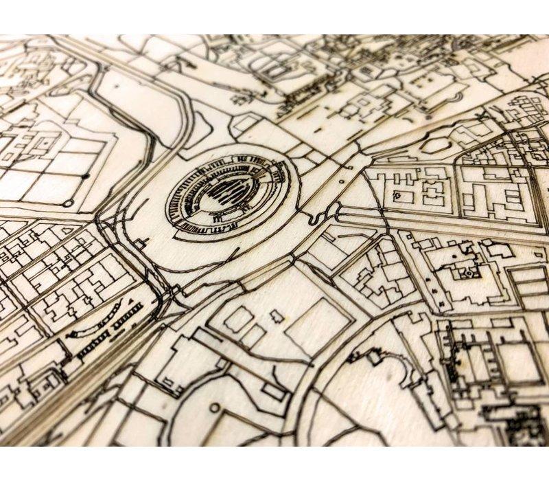 Citymap Rome | houten wanddecoratie