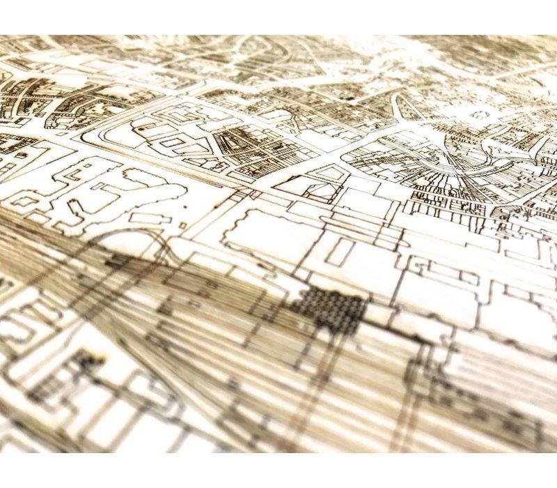 Citymap Utrecht | houten wanddecoratie