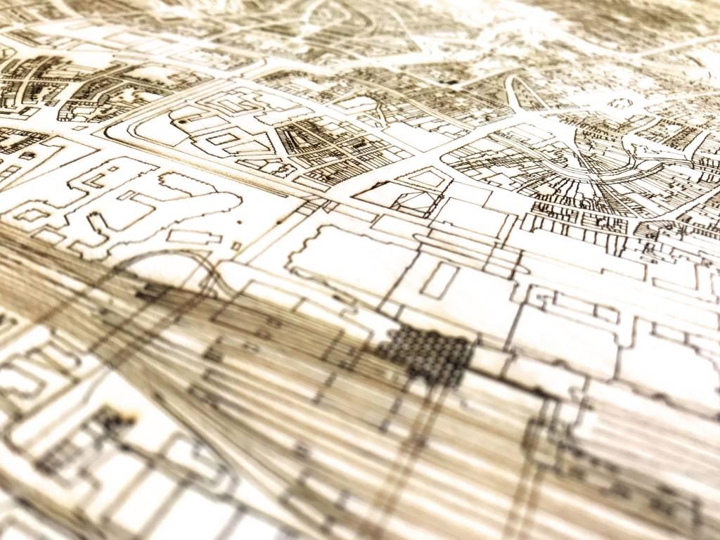 Wall decoration Citymap Utrecht | Wooden wall panel-4