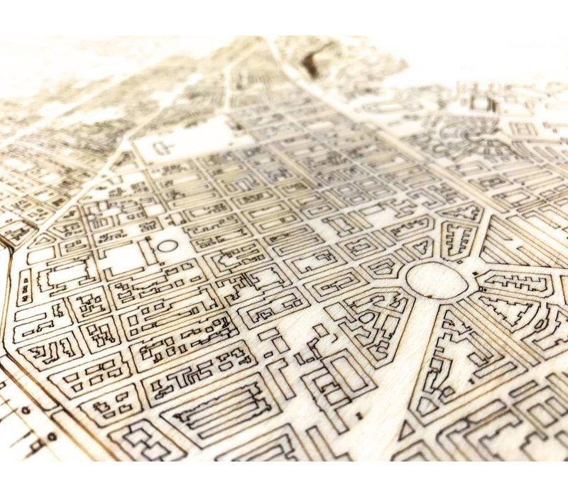 Citymap Stockholm | houten wanddecoratie