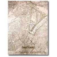 WOODEN WALL DECORATION STUTTGART CITYMAP