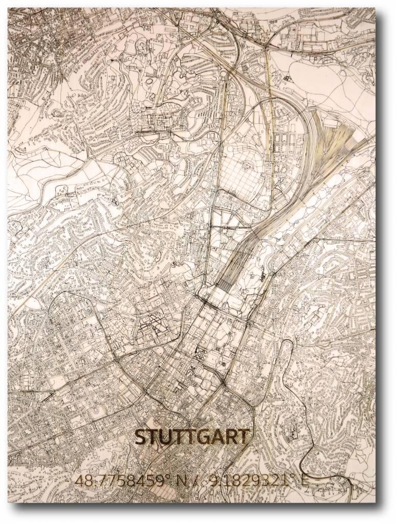 WOODEN WALL DECORATION STUTTGART CITYMAP-1