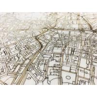 Citymap Leipzig | houten wanddecoratie