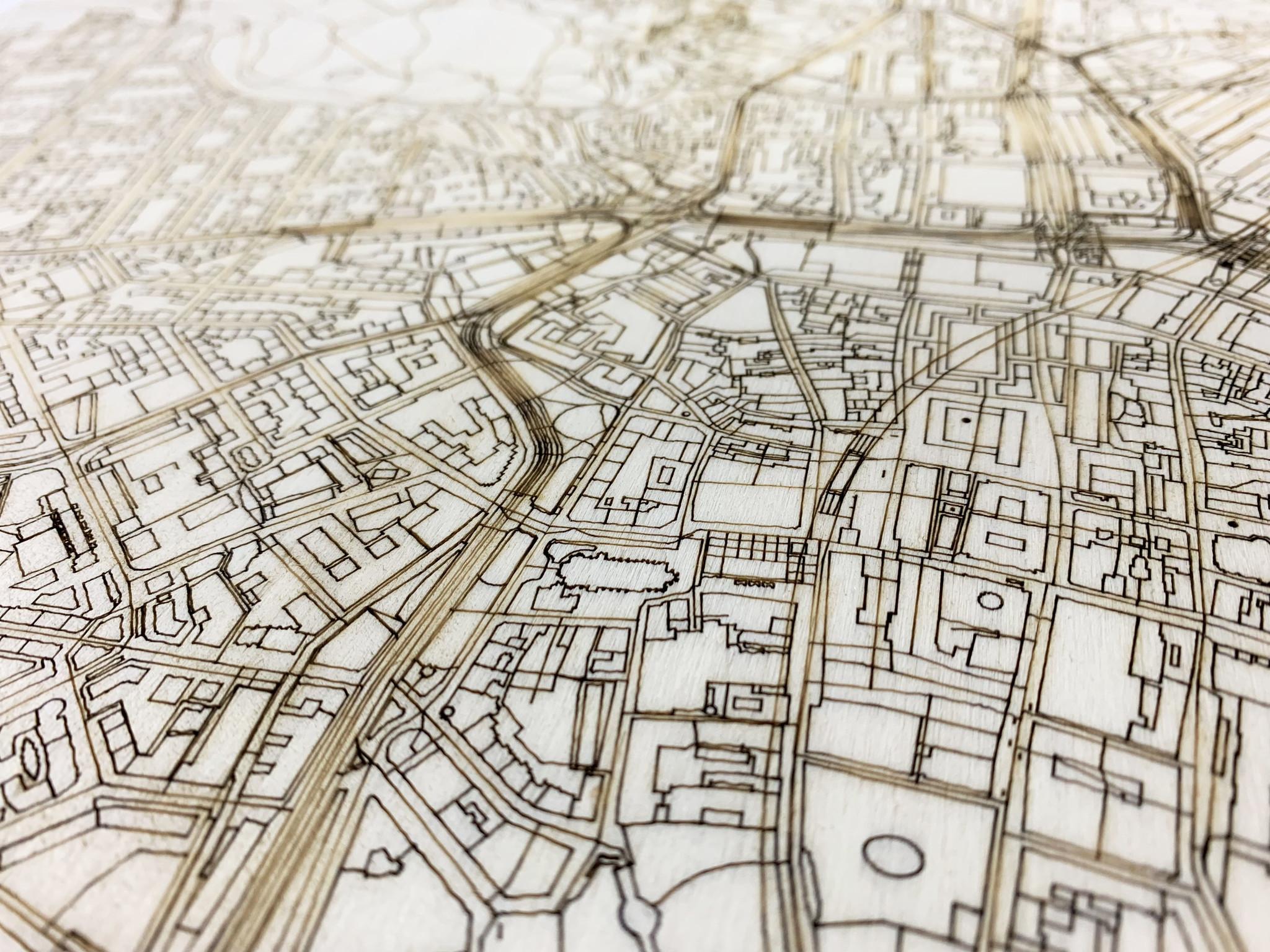 Citymap Leipzig | houten wanddecoratie-3