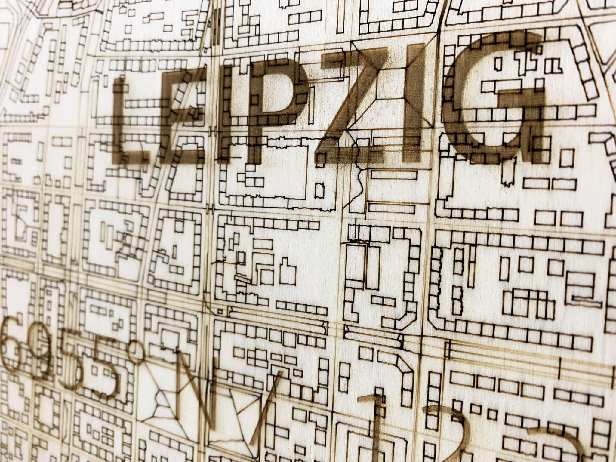 Citymap Leipzig | houten wanddecoratie-2