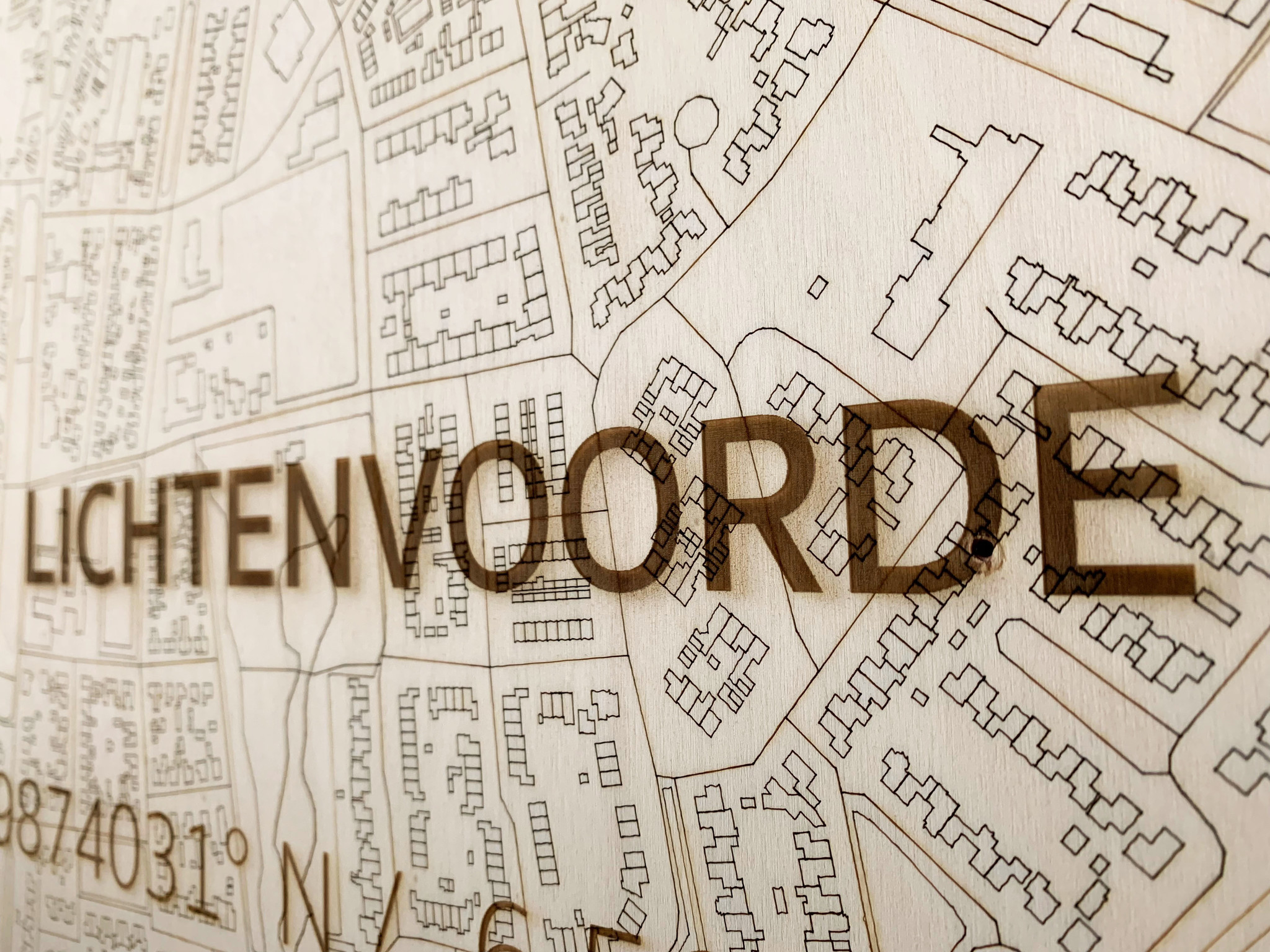 WOODEN WALL DECORATION LICHTENVOORDE CITYMAP-3