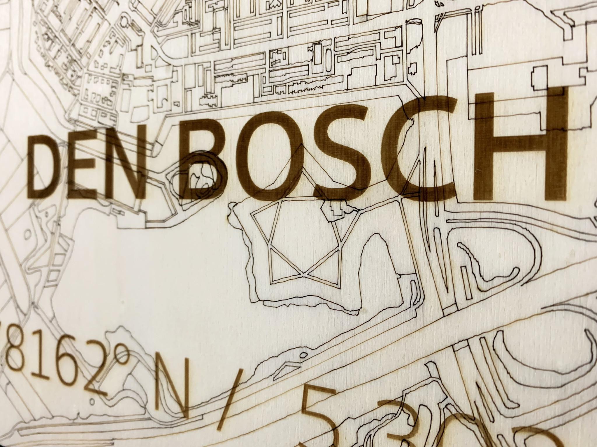 Citymap Den Bosch | houten wanddecoratie-3