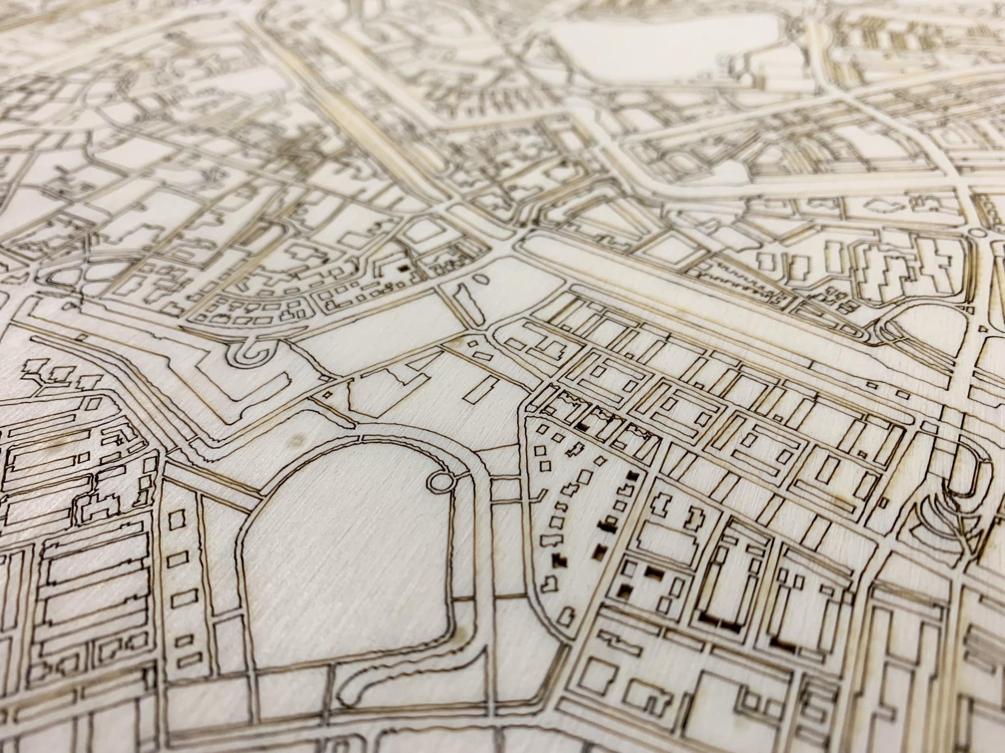 Citymap Den Bosch | houten wanddecoratie-4