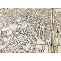 Stadtplan Lelystad | Wanddekoration Holz
