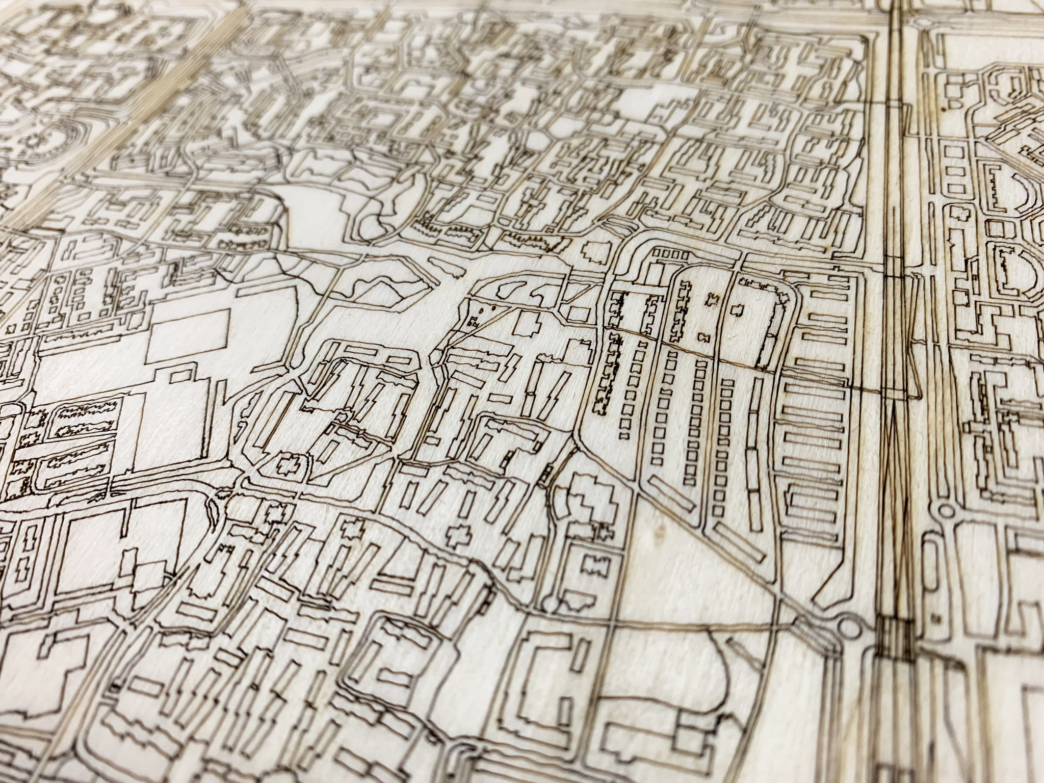 Citymap Lelystad | houten wanddecoratie-4