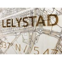 Citymap Lelystad | houten wanddecoratie
