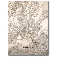 Stadtkarte Potsdam | Wanddekoration Holz