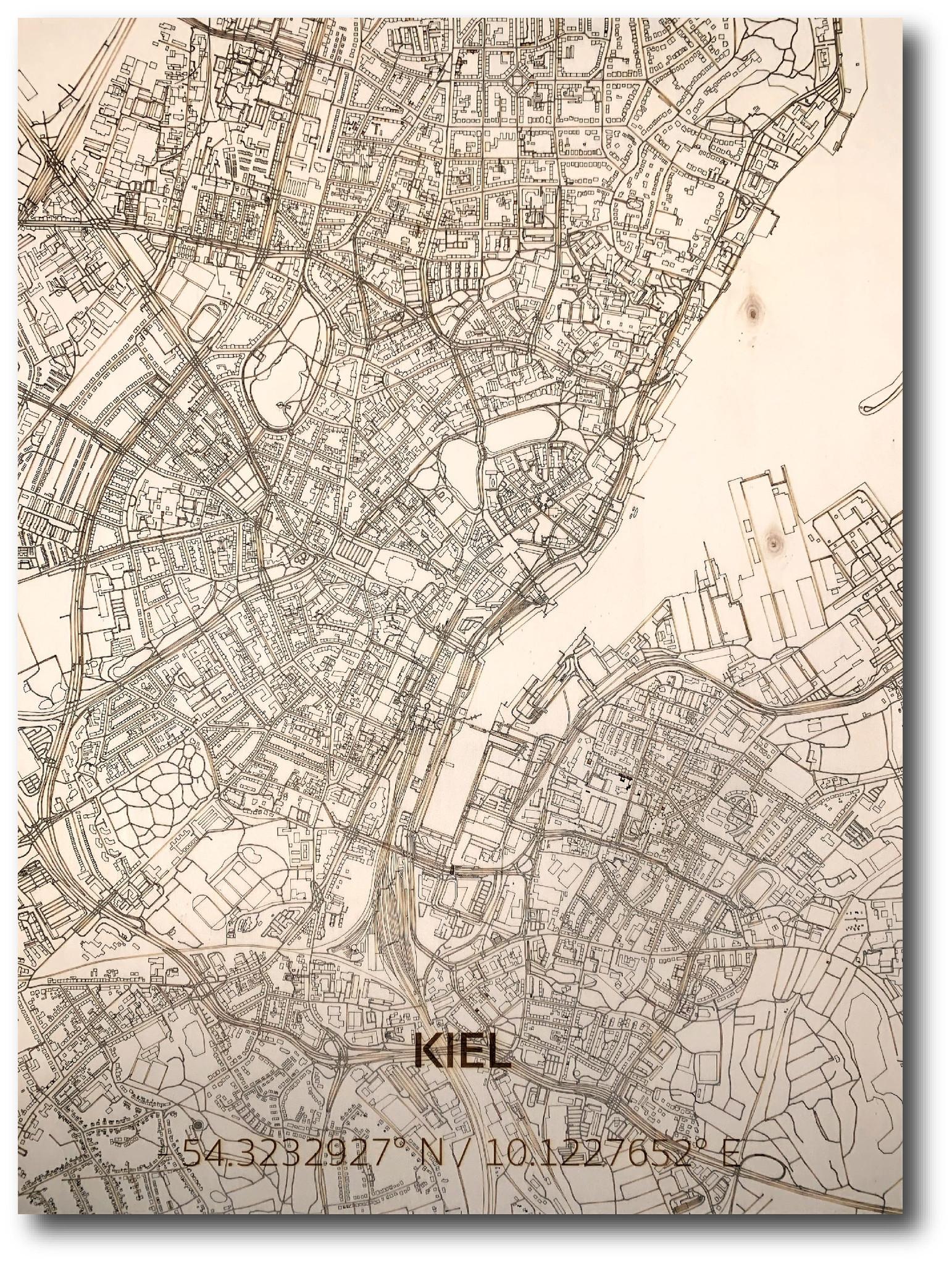 WOODEN WALL DECORATION Kiel CITYMAP-1