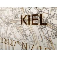 WOODEN WALL DECORATION Kiel CITYMAP