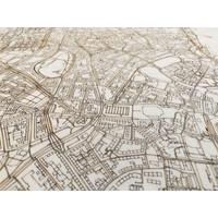 Stadtkarte Kiel | Wanddekoration Holz
