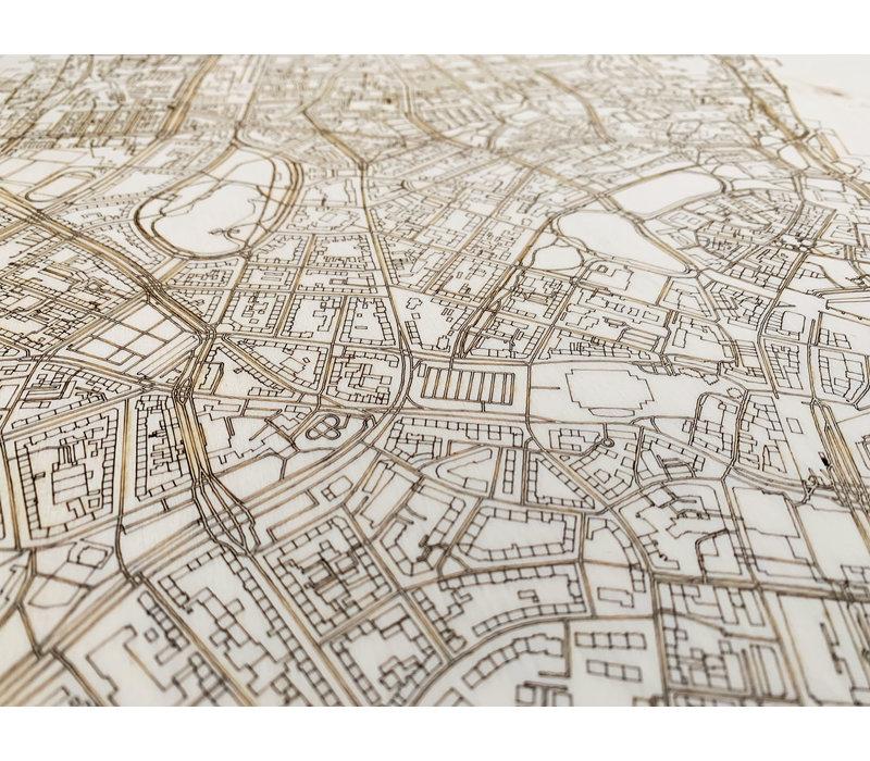 Stadtplan Kiel | Wanddekoration Holz