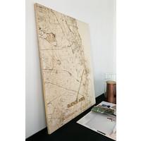 Citymap Buenos Aires   houten wanddecoratie