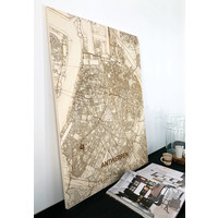 WOODEN WALL DECORATION Antwerp CITYMAP