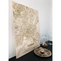 Citymap Potsdam | houten wanddecoratie