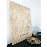 WOODEN WALL DECORATION LICHTENVOORDE CITYMAP