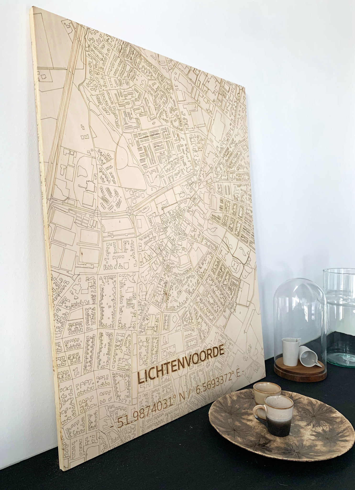 WOODEN WALL DECORATION LICHTENVOORDE CITYMAP-2