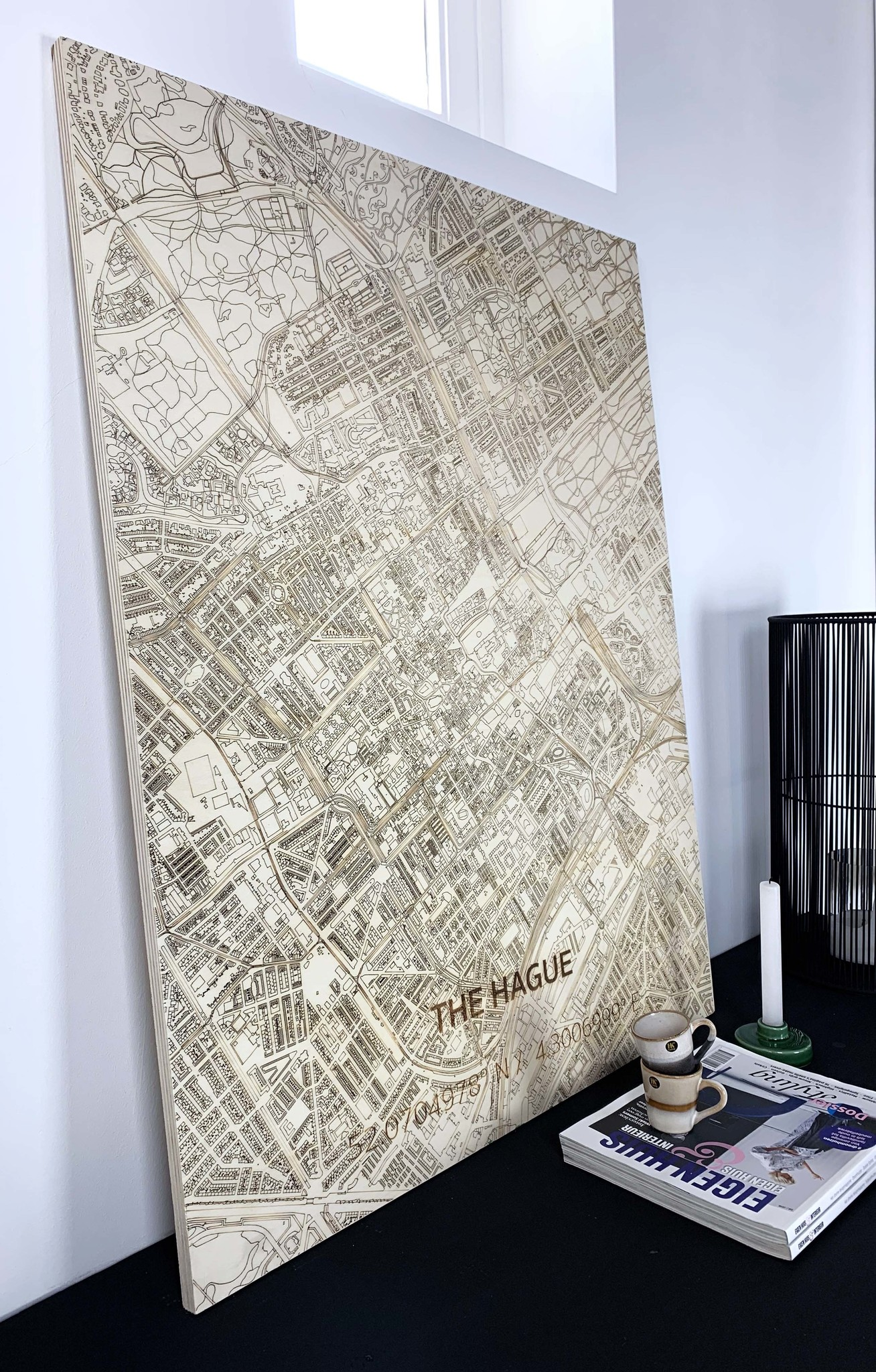 Stadtplan Den Haag | Wanddekoration Holz-2