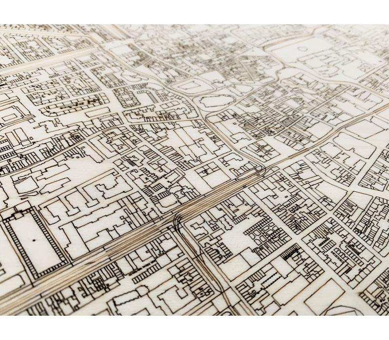 Citymap Den Haag | houten wanddecoratie