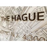 Stadtplan Den Haag | Wanddekoration Holz