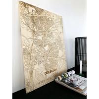 Stadtplan Den Bosch | Wanddekoration Holz