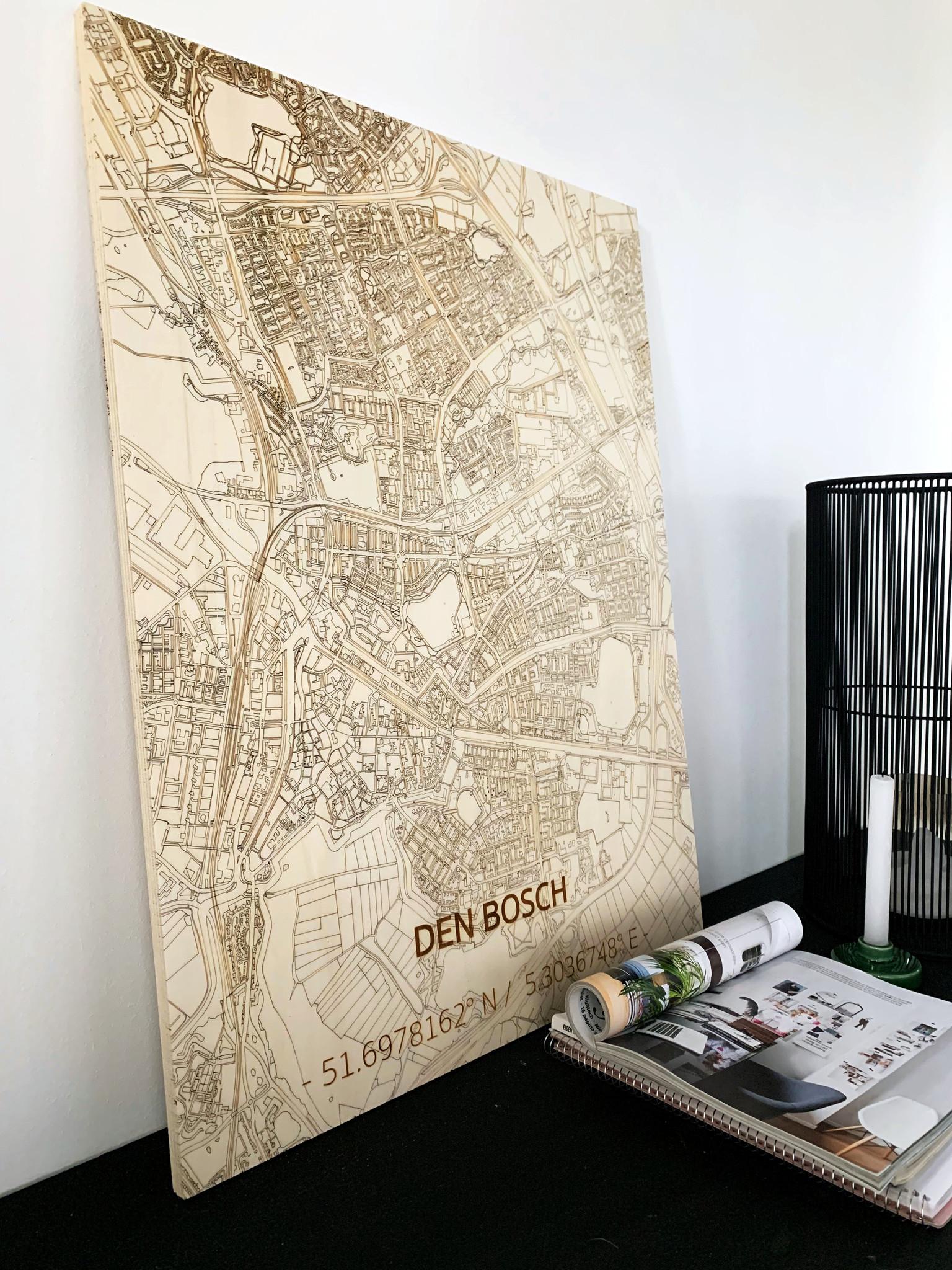 Citymap Den Bosch | houten wanddecoratie-2