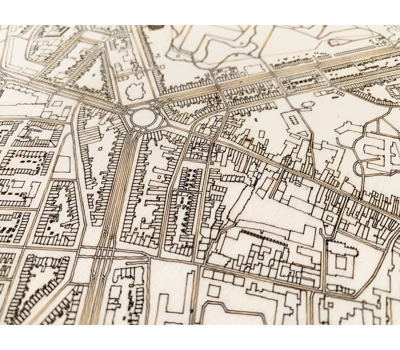 Stadtplan Maastricht | Wanddekoration Holz