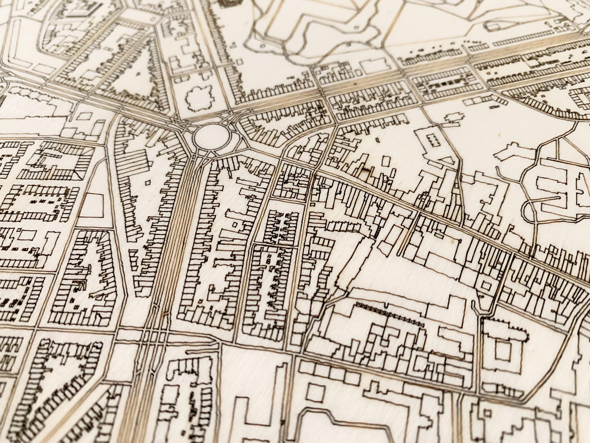 Stadtplan Maastricht | Wanddekoration Holz-5