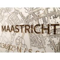 WOODEN WALL DECORATION Maastricht CITYMAP