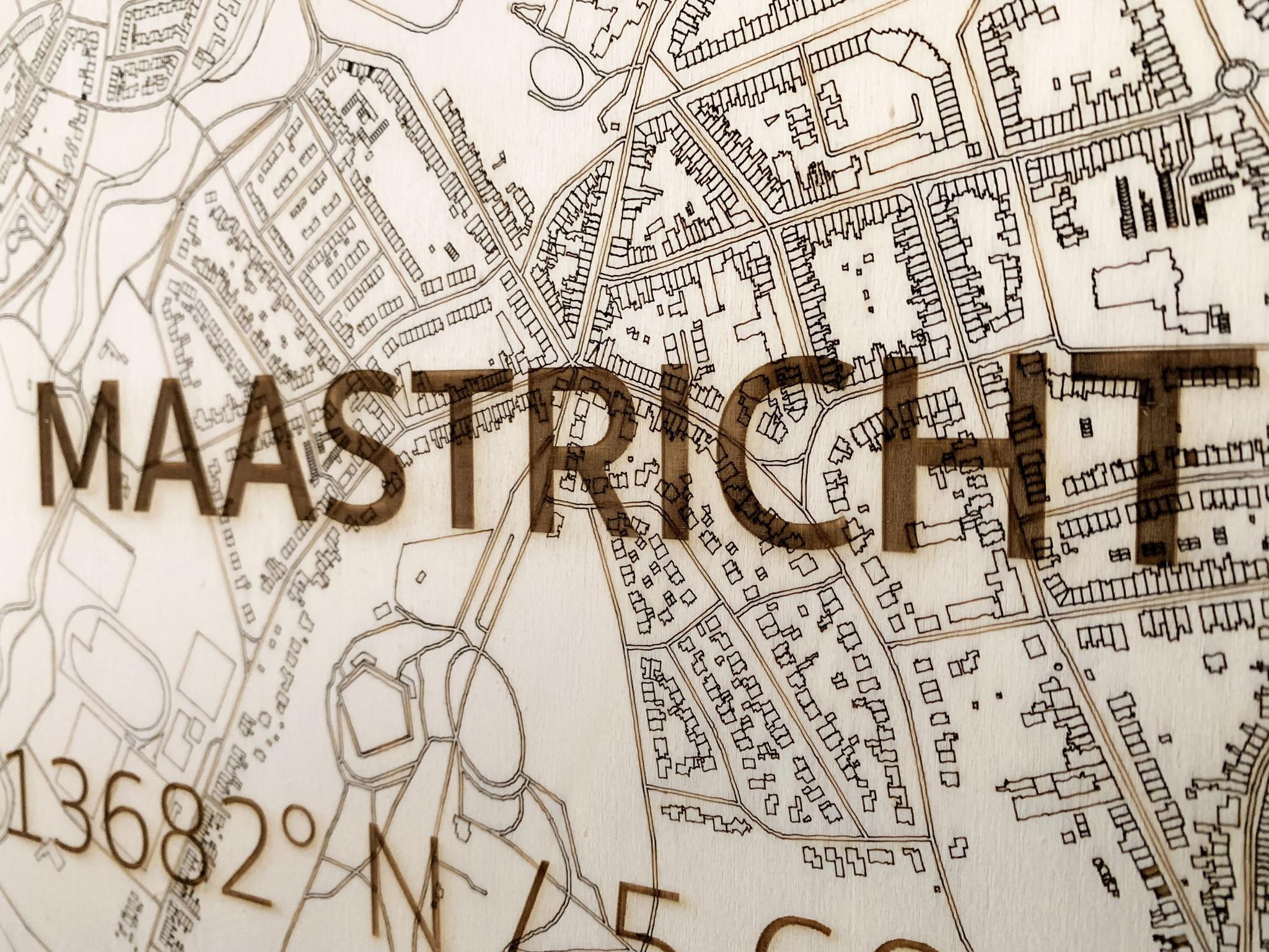 Stadtplan Maastricht | Wanddekoration Holz-4
