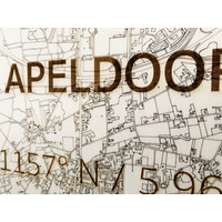 Stadtplan Apeldoorn | Wanddekoration Holz