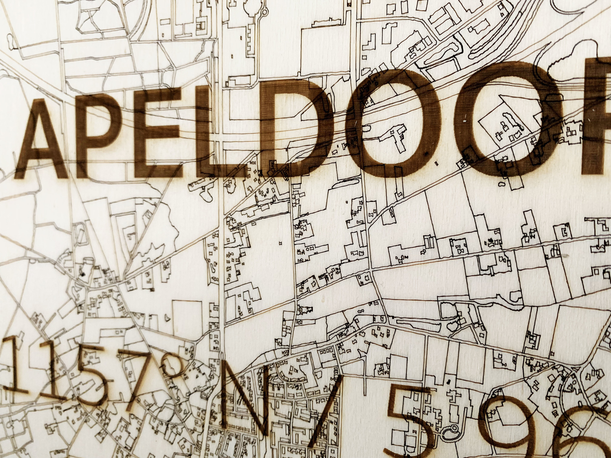 WOODEN WALL DECORATION Apeldoorn CITYMAP-4