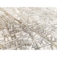 Citymap Leeuwarden | houten wanddecoratie