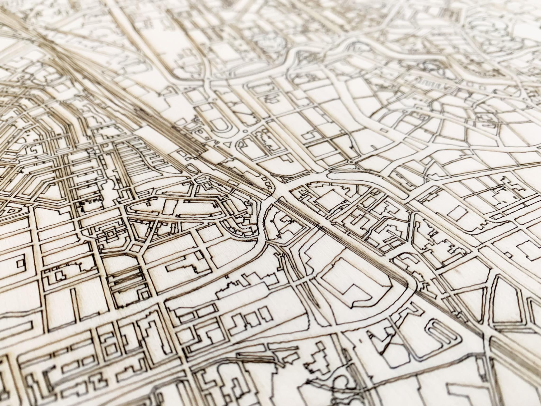Citymap Leeuwarden   houten wanddecoratie-3
