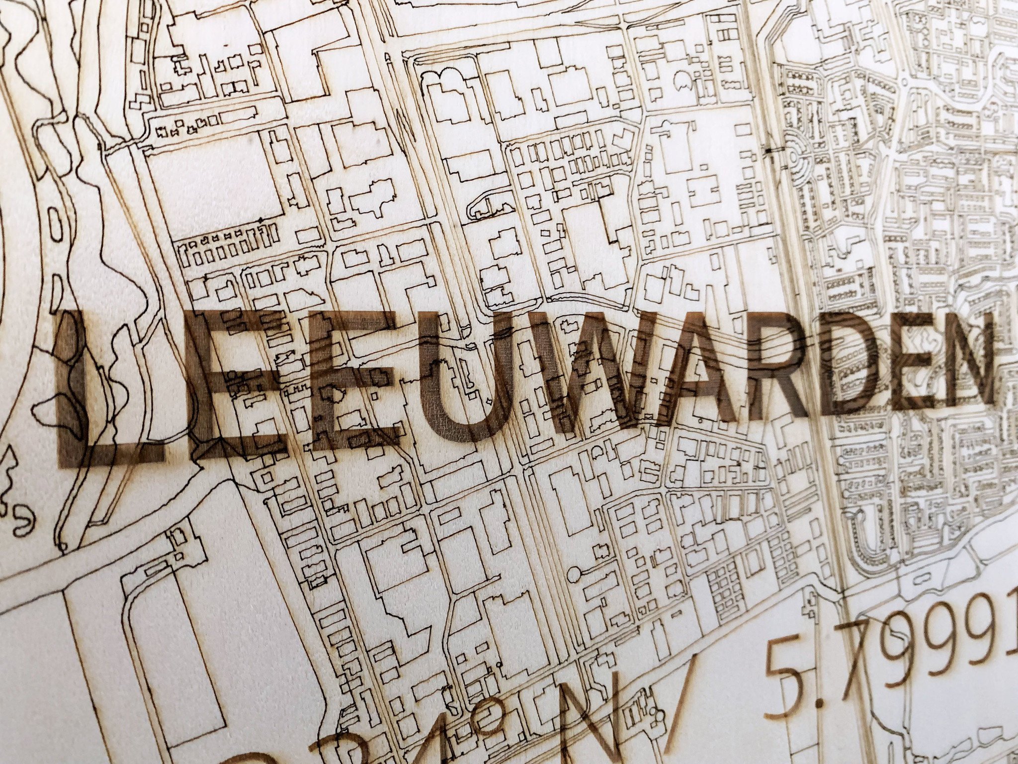 Citymap Leeuwarden   houten wanddecoratie-4