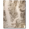 WOODEN WALL DECORATION NEW YORK CITYMAP